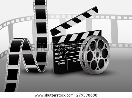 Film strip. Vector illustration - stock vector