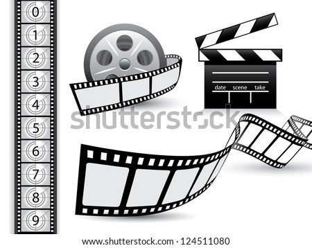 Film strip vector set - stock vector