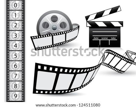 Film strip vector set - stock vector