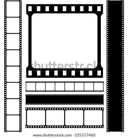 Film strip vector set. - stock vector