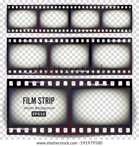 Film Strip Vector Set Realistic Frame Stock Vector 591979580 ...