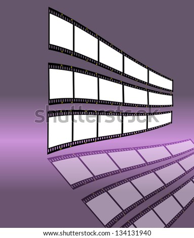 film strip with empty frames, free space for your pix