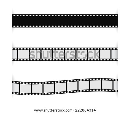 film strip with shadow design - stock vector