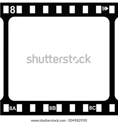 Film stripe, frame template. VECTOR illustration. - stock vector