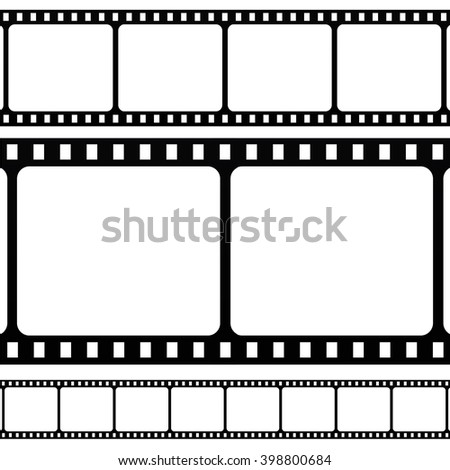 Film stripe icon on white background. Vector art. - stock vector