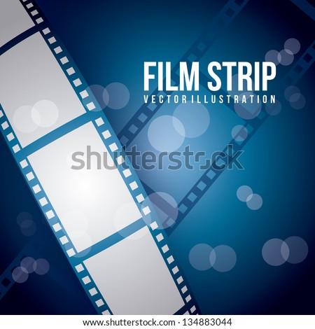 film stripe over blue background. vector illustration - stock vector