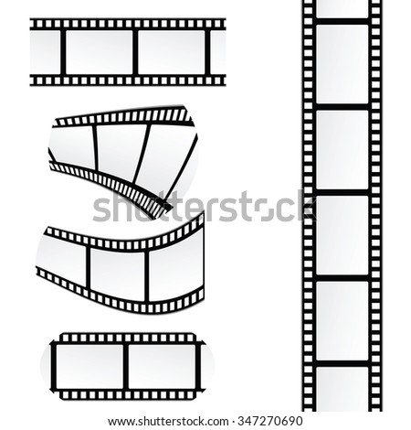 film tape roll vector illustration - stock vector