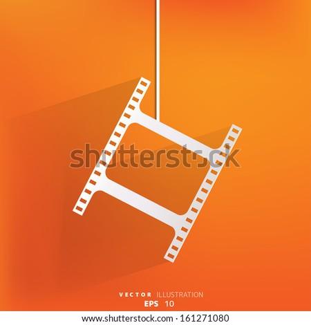 Film web icon - stock vector