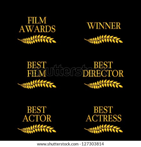 Film Winners 4 - stock vector