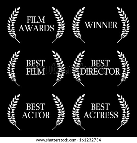 Film Winners Black and White 1 - stock vector