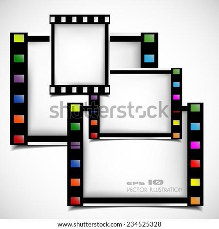Films Frame Abstract Illustration Stock Vector 234525328 - Shutterstock