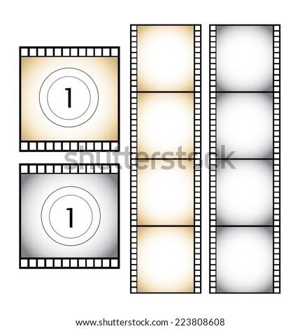 Filmstrip - stock vector