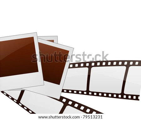 Filmstrip and Photo frames Vector