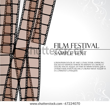 filmstrip vector template - stock vector