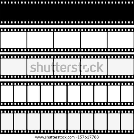 filmstrips - stock vector