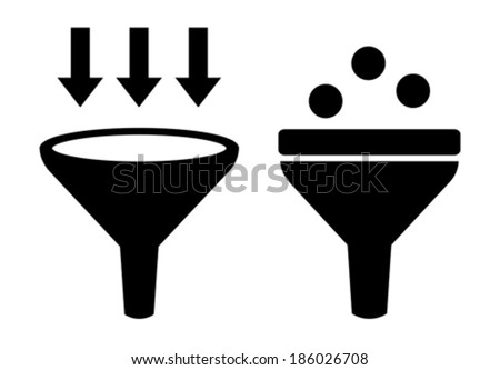 Filter icon - stock vector