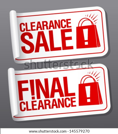 Final clearance sale stickers. - stock vector