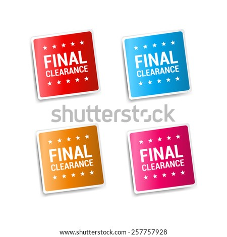 Final Clearance Stickers - stock vector