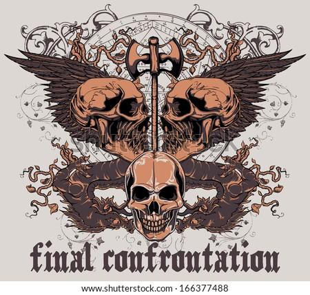 Final confrontation - stock vector