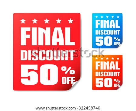 Final Discount 50% Off Stickers