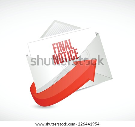final notice mail illustration design over a white background - stock vector