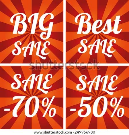 Final sale. Big Sale design template. - stock vector