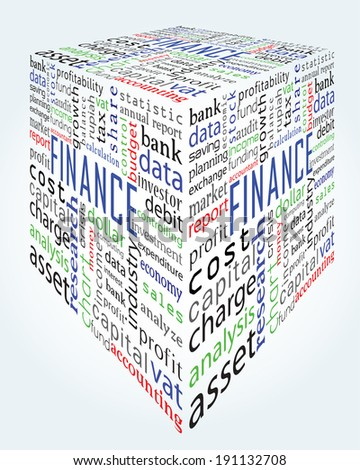 finance and accounting words - stock vector