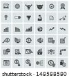Finance and analysis icons,vector - stock vector