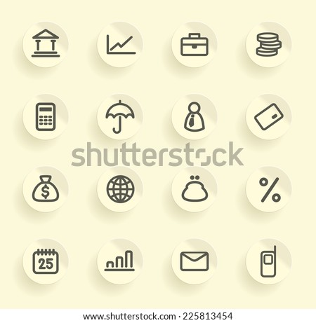 Finance and Banking icons set - stock vector