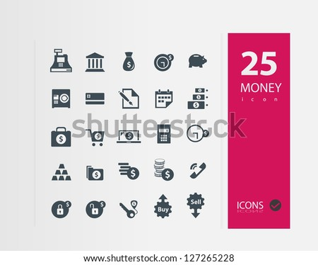 Finance and banking icons set ( Set of 25 Quality icons ) - stock vector