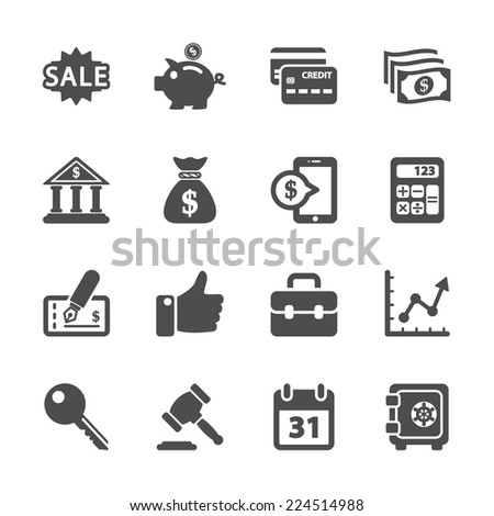 finance and business icon set, vector eps10 - stock vector