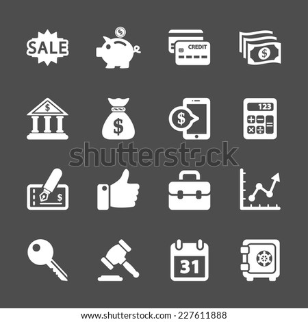 finance and business icon set, vector eps10.