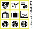 finance, business icon set - stock vector