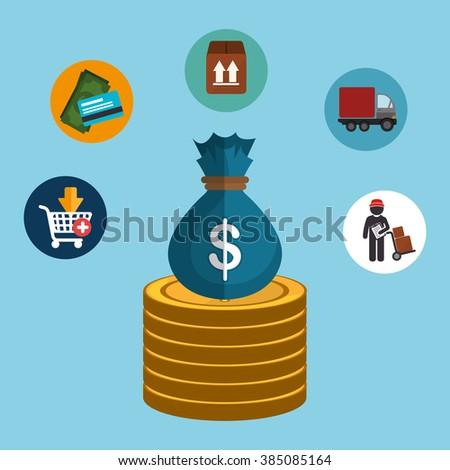 finance concept design  - stock vector