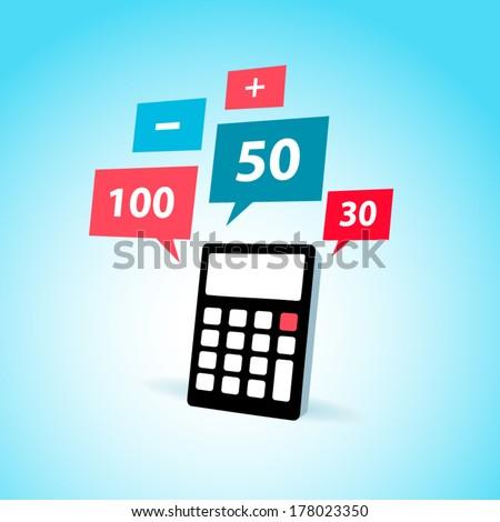 finance element calculator icon - stock vector