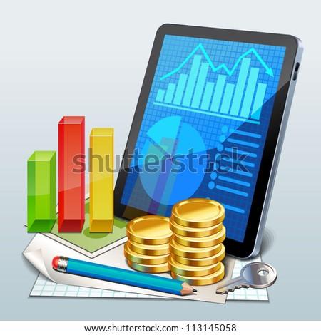finance icon - stock vector