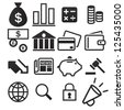 Finance Icon Set - stock vector