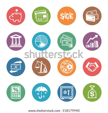 Finance Icons - Dot Series - stock vector