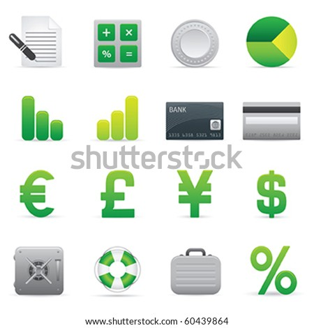 Finance Icons | Green04 Professional icons for your website, application, or presentation - stock vector