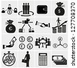 Finance Icons.Money icons set - stock photo