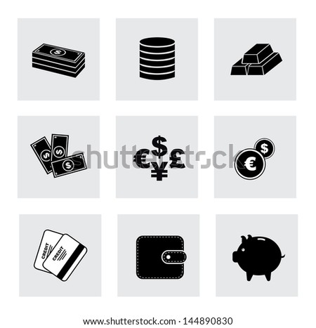 finance icons over white background vector illustration