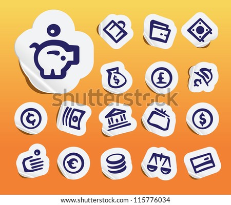 Finance Items Icons - stock vector