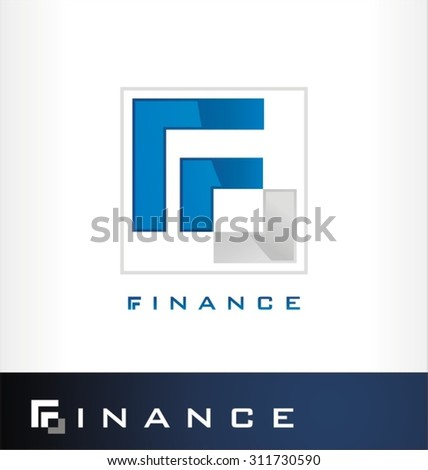 Finance logo symbol - stock vector