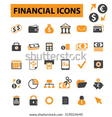 finance, money icons