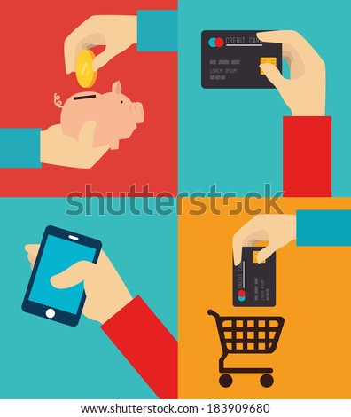 Finance money over colorful background, vector illustration - stock vector