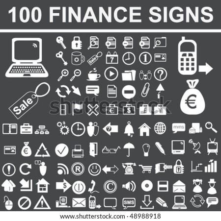 Finance Objects Set - stock vector