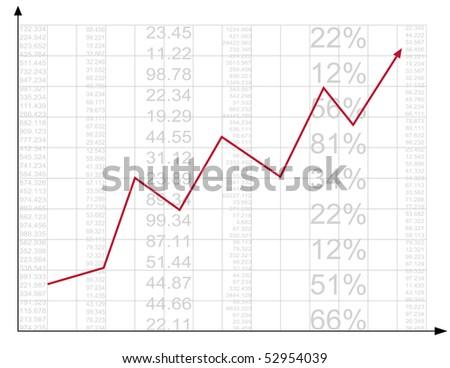 Finance report. Vector. - stock vector