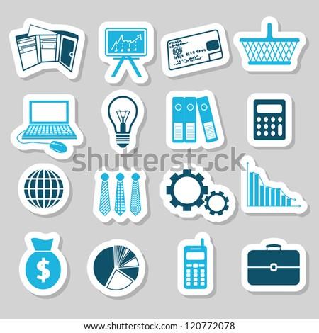 finance stickers - stock vector