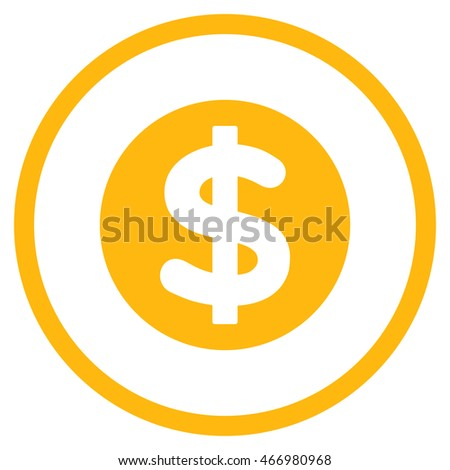 Finance vector icon. Style is flat rounded iconic symbol, finance icon is drawn with yellow color on a white background.