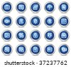 Finance web icons, blue circle buttons series - stock vector